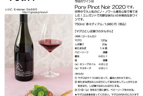 Pony Pinot Noir 2020